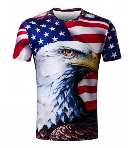 3D USA Flag Eagle Print Tee