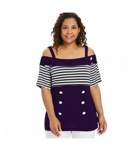 Plus Size Striped Longline T-shirt