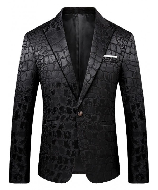 Lapel Collar One Button Python Blazer