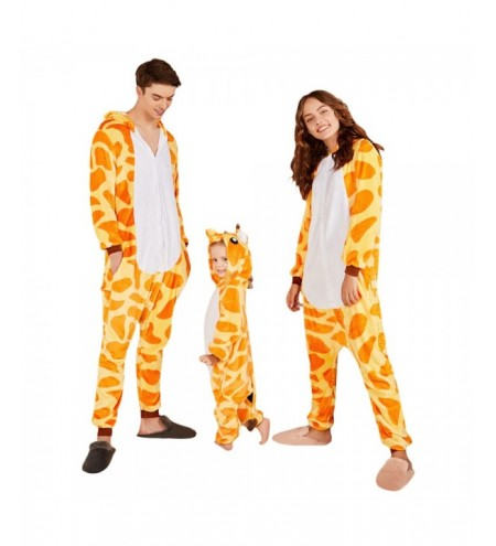 Cute Giraffe Christmas Family Onesie Pajamas
