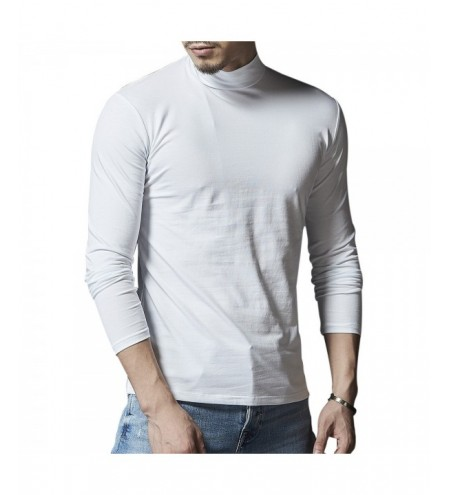 Mock Neck Stretch Long Sleeve Tee