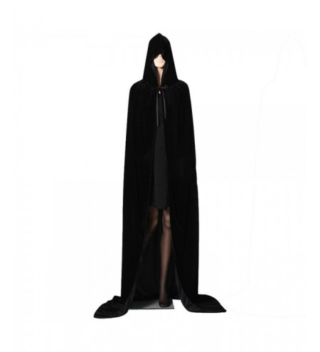 Hooded Cloak Long Velvet Cape for Christmas Halloween Cosplay Costumes