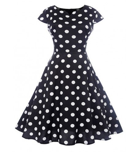 Retro Polka Dot Flare Dress