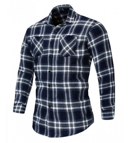 Front Pocket Checked Long Sleeve Shirt