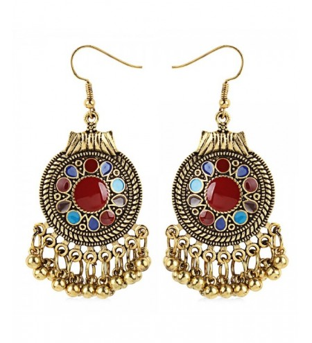 Trendy Bohemia Vintage Big Round Fringes Drop Earrings for Women