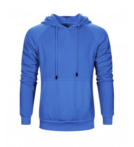 Male Long Sleeve Solid Color Pullover Hooded Sweatshirt for Men