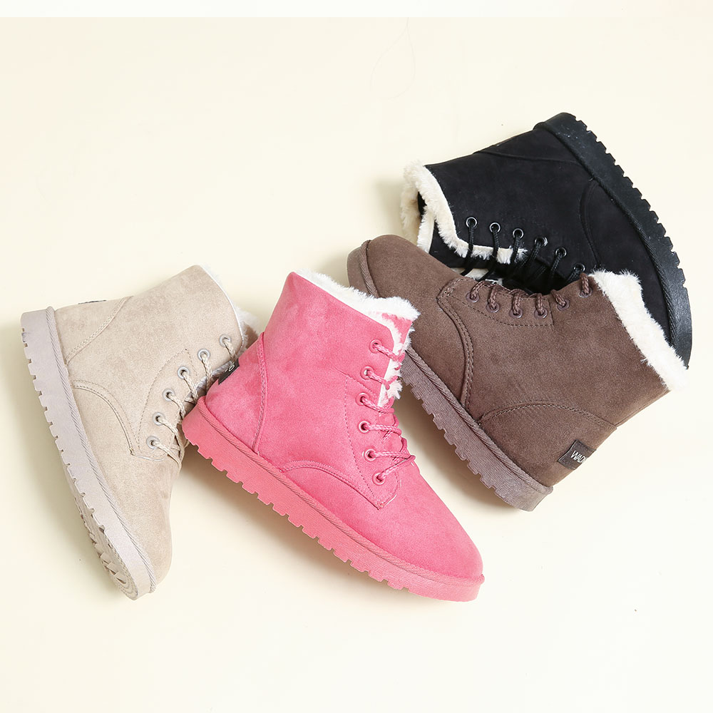 Women Suede Leather Low Heel Ankle Boots