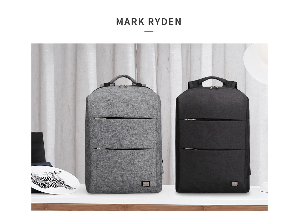 MARK RYDEN Men Water Repellent Large Capacity Casual Laptop Backpack