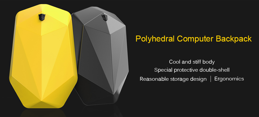 Fashionable Polyhedron Computer Backpack from Xiaomi youpin